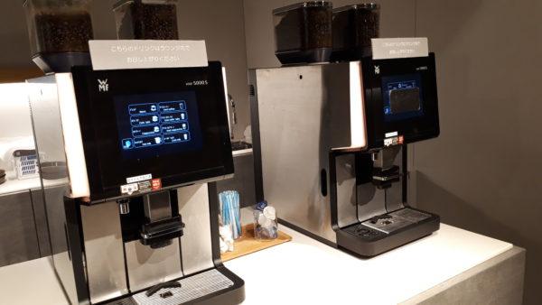 パワーラウンジノース コーヒーマシンの写真