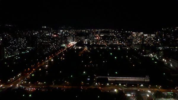 リーガロイヤルホテル広島のエグゼクティブフロアからの夜景