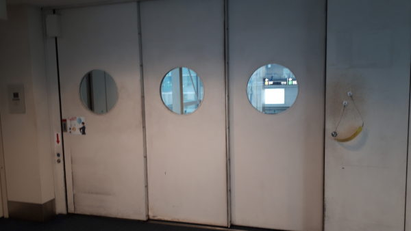 羽田空港の到着導線の写真