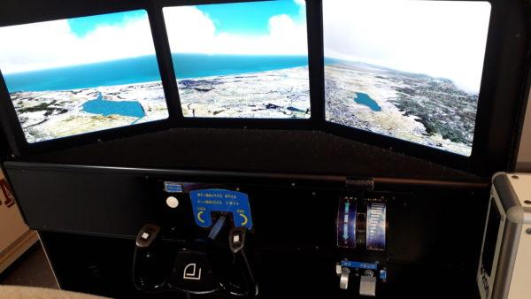 セスナ機のフライトシミュレータの写真