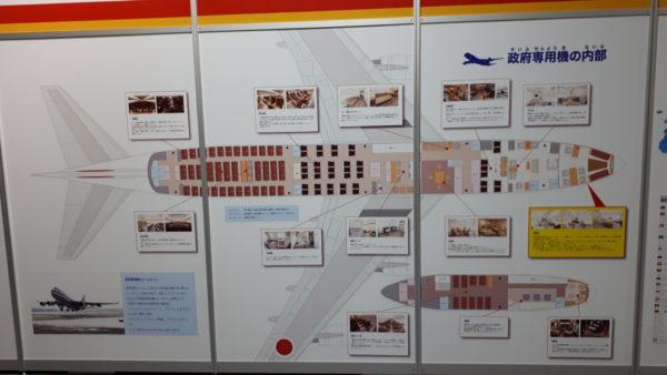政府専用機の内部写真