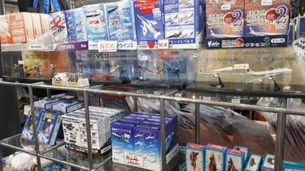 航空プラザの売店 モデルプレーンコーナーの写真