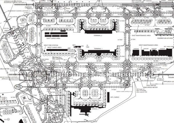 羽田空港 チャートマップの写真